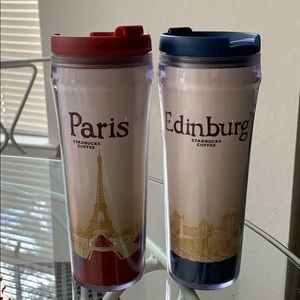 Starbucks City 12oz Tumblers (Paris and Edinburgh)
